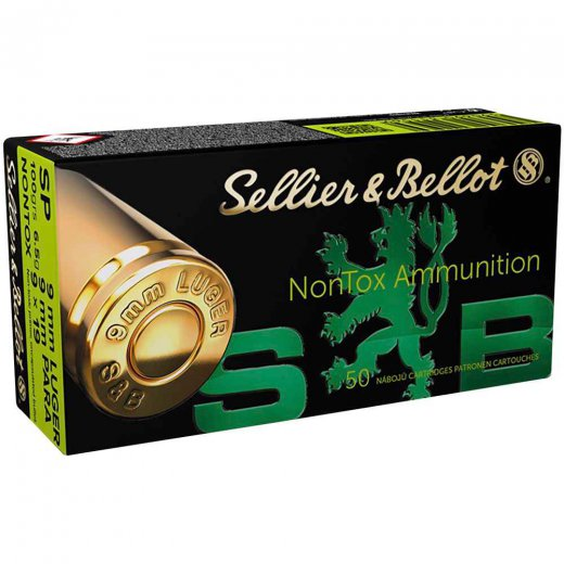 S&B 9mm Luger NonTox TFMJ 124gr.